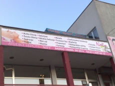 Baner cirada sa podkonstrukcijom - Firma: Salon lepote Naty - Lokacija: Beograd