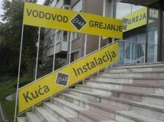 Baner cirada sa podkonstrukcijom - Firma: Etaž - Lokacija: Beograd