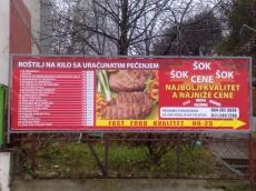 Baner cirada sa podkonstrukcijom - Firma: Fastfood- Lokacija: Beograd
