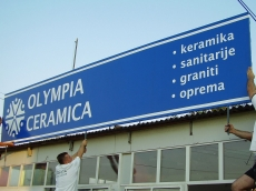 Baner cirada sa podkonstrukcijom - Firma: Olimpia Ceramica - Lokacija: Beograd
