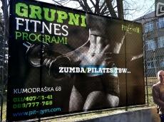 Reklama za Fitnes klub-Cerada