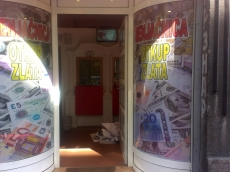 OneWay Vision folija - Firma: Menjacnica - Lokacija: Beograd
