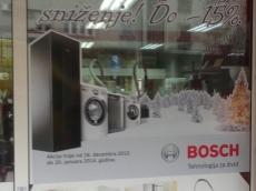 Brendiranje izloga - Firma: Bosch - Lokacija: Beograd