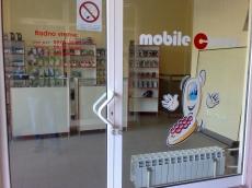 Brendiranje izloga, PVC folija - Firma: Mobilecorner - Lokacija: Beograd