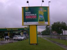 Brendiranje izloga, PVC folija - Firma: Euro petrol - Lokacija: Beograd