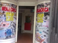 Brendiranje izloga, PVC folija - Firma: Menjacnica - Lokacija: Beograd