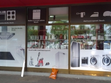 Brendiranje izloga, PVC folija - Firma: Bosh - Lokacija: Beograd