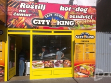 Reklamna tabla lexan -  Firma Fast food City King - Lokacija: Beograd