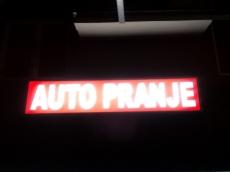 Svetleća reklama - Autoperionica - Lokacija: Beograd