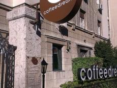 Svetleća dvostrana reklama od klirita konzola - firma Coffeedream - Lokacija: Beograd