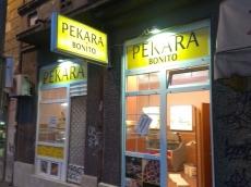 Svetleća konzola i prozorska grafika - Pekara - Lokacija: Beograd