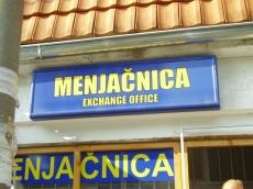 Svetleća reklama - Menjačnica - Lokacija: Beograd