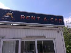 Svetleća reklama - Rent a car - Lokacija: Beograd