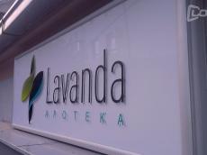 Svetleca reklama sa natpisom od klirita-Apoteka Lavanda