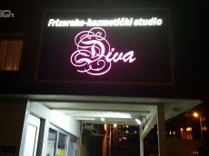 Svetleca reklama za frizerski salon-Diva